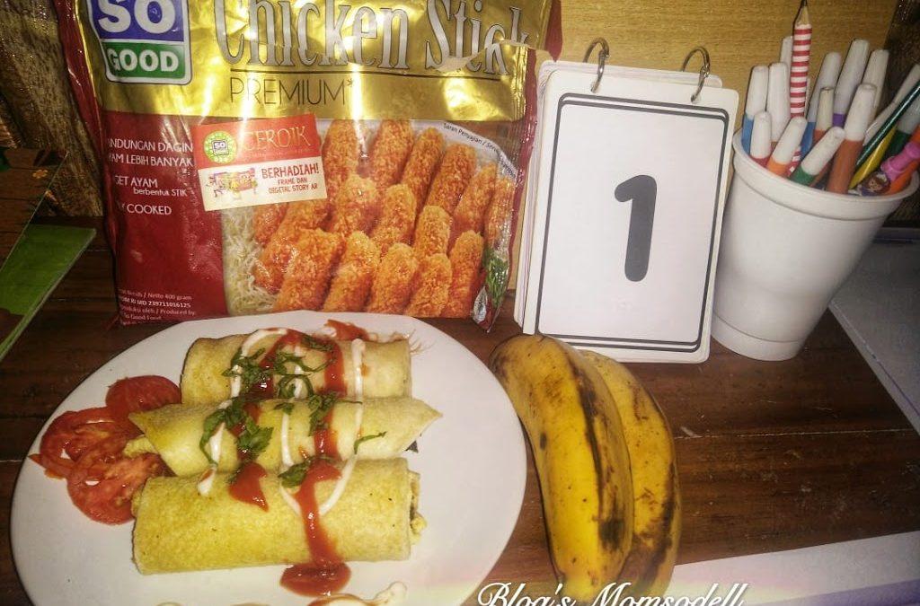 Camilan Sehat Chicken Roll Nugget Stick SO GOOD