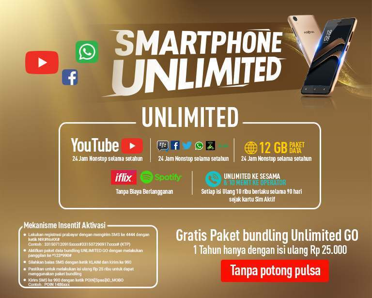 Smartphone Serba Unlimited, Advan S50 4G Aja !