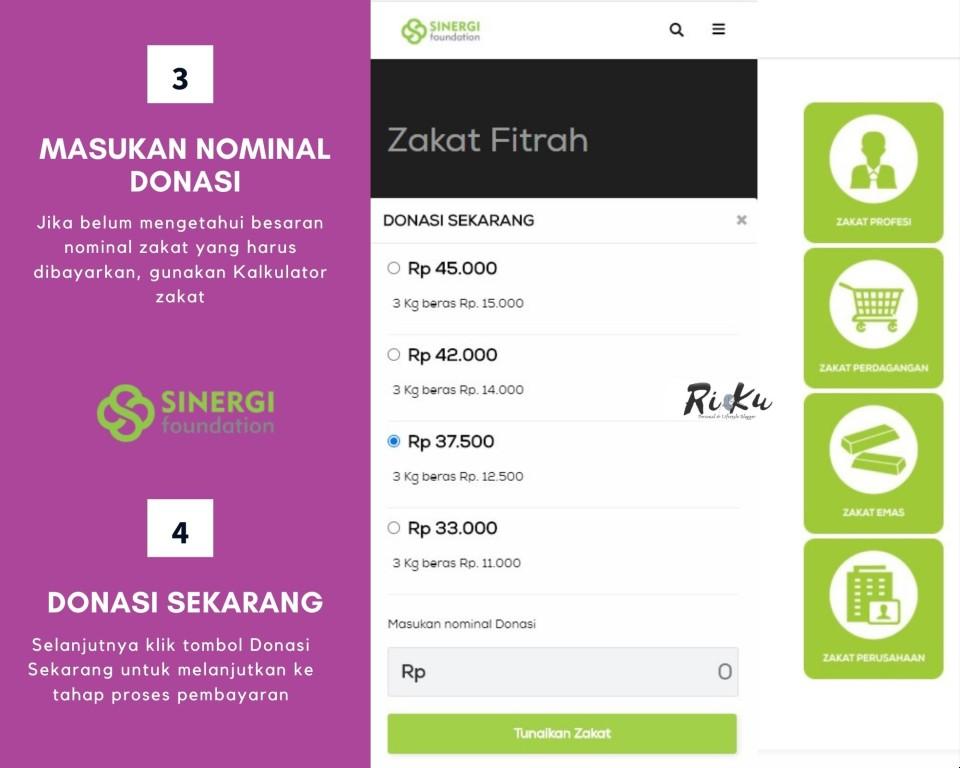 Langkah Mudah zakat Online Melalui Sinergi Foundation