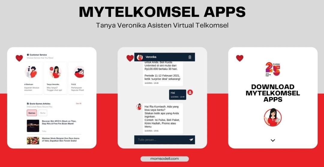 Tanya Veronika di Aplikasi MyTelkomsel